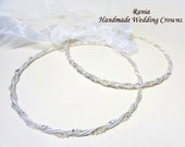Wedding Crowns.Stefana.Orthodox Crowns.Silver Plated Wedding Headband.Stephana.Στεφανα.TWISTED.
