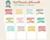 Best Moments 3x4 inch Journal Card Printable for Pocket Scrapbooking and Project Life