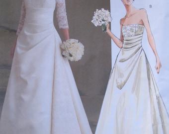 Vogue 2842 Wedding Dress Pattern Sizes 6-10