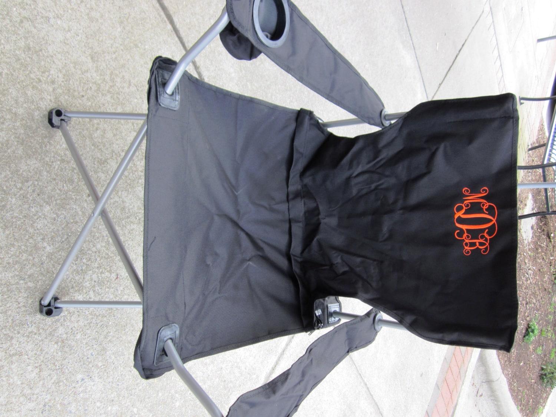 Monogrammed Folding Bag Chair