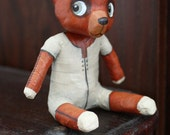 Brown bear Orange combination off-white