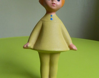 Rare and old soviet rubber toy - schoolgirl - made in USSR - Soviet Toy - Rubber Doll - Rare Toy