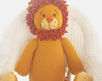 Amigurumi Pattern for Crochet Toy of Giant Amigurumi Lion PDF Toy Pattern