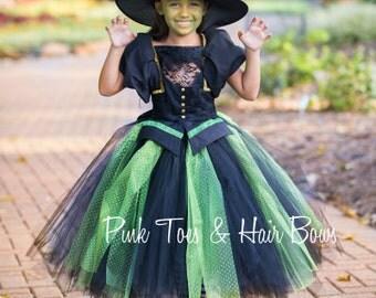Wicked Witch Tutu dress- Wicked witch tutu dress-Wicked Witch dress- witch costume-Wicked witch-wizard of oz costume