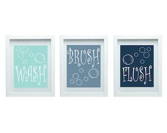 Bathroom Rules, Boys Bathroom, Bathroom Rules For Bathroom, Boys Bathroom Decor, Wall Art, Print Set of 3-8X10 Prints Choose Your Color