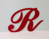 Industrial Salvaged Red Acrylic Sign Letter R Recovered Home Decor, Modern Elegant, Plastic, Office Decor Rustic Retro Vintage Architectural