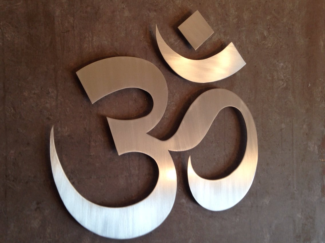 Om Symbol Namaste Metal Wall Art Wall Art Metal By