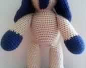 READY TO SHIP Crochet Rattle Ear Rabbit Toy