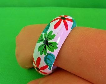 Vintage Hand Painted Bangle Bracelet (Item 1523)