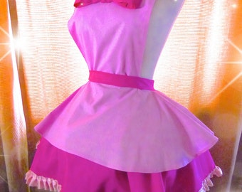 Adorable My Little Pony Pinkie Pie Cosplay Apron w/ Embroidered Cutie Mark