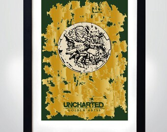 UNCHARTED - Golden Abyss poster, Wall Art Print Game Poster (selectable size)