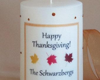 Thanksgiving Swarovski Crystal 3x4 Candle