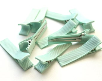 10 Partially Lined Clips - Fresh Mint
