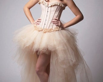 Custom Ivory Lace Corset Wedding Prom Dress Costume Evening Gown