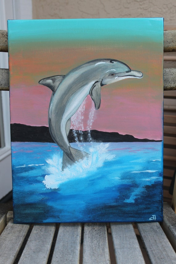 Commissioned For Sarah Dolphin Original Painting Acrylic