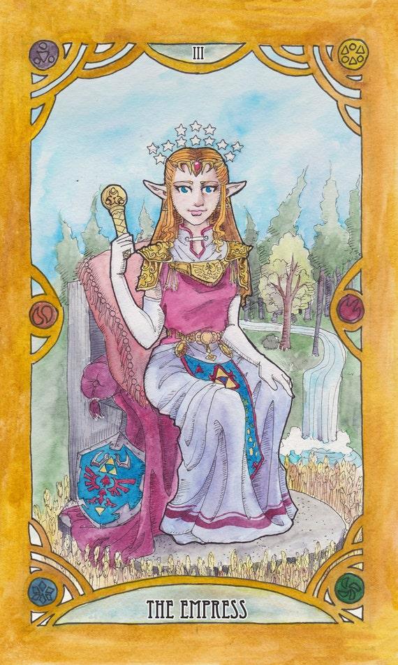 zelda tarot individual cards watercolor print 6 75 x