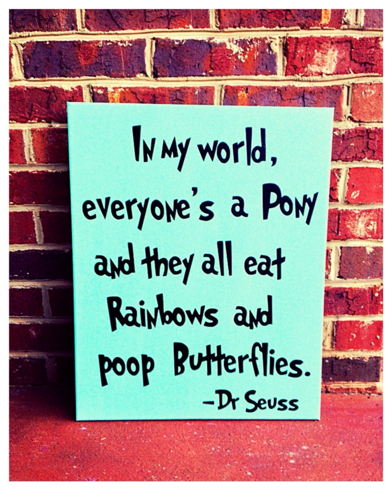 In My World Dr. Seuss Canvas Quote 16 X 20 Canvas