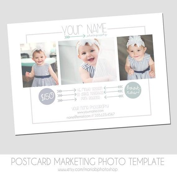 Photography postcard mini session flyer marketing template for Marketing templates for photographers
