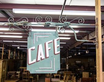 Vintage English Steel Cafe Sign