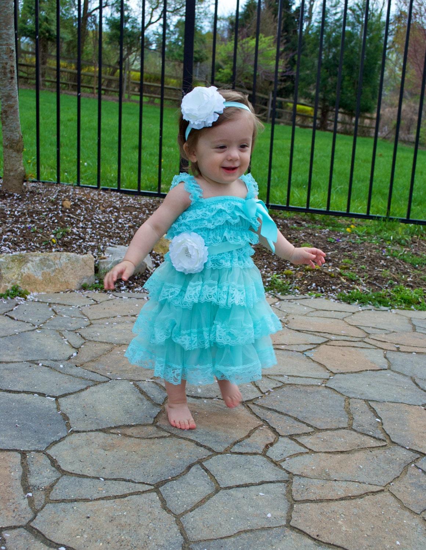 Aqua blue tiffany blue toddler baby dress by avamadisonboutique