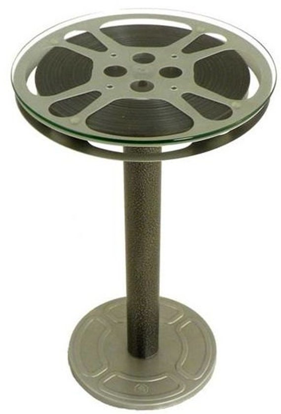 end table 12 inch 16mm movie film reel by vintagefilmreeldecor