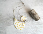 Wooden decoration for bedroom shabby chic polka dots yellow duck