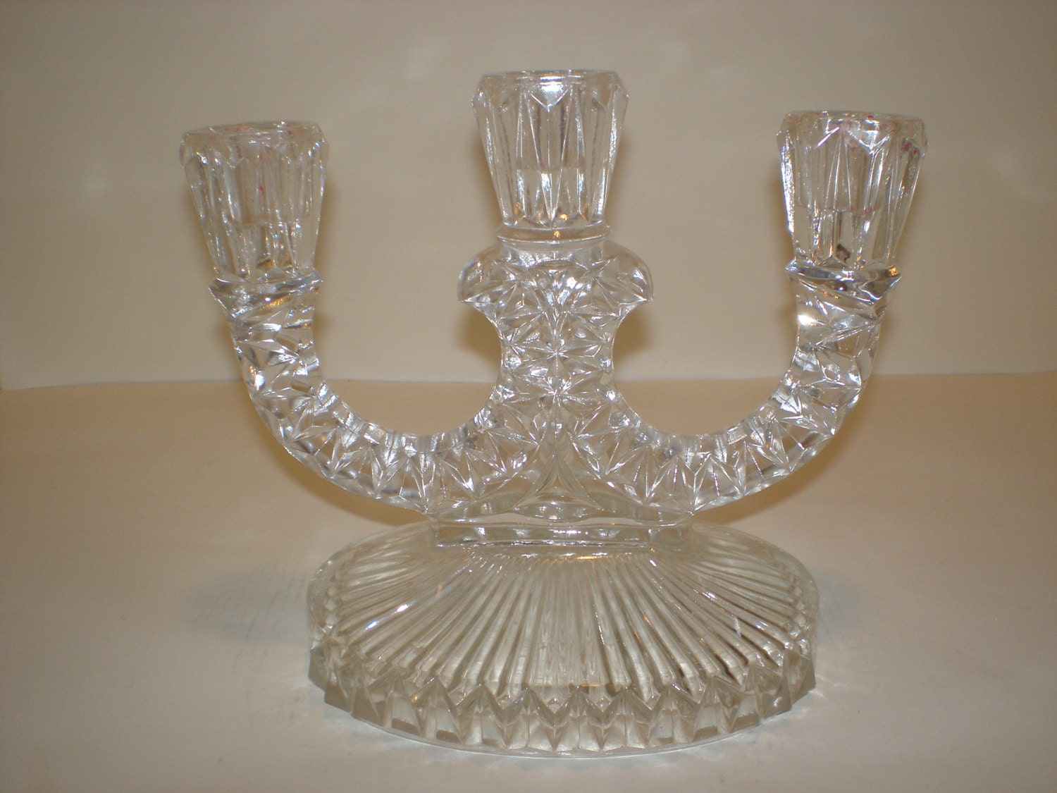 Vintage crystal candle holder home decor Crystal home decor