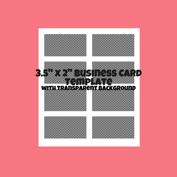Digital download 35 inch x 2 blank business card for 3 5 x 2 business card template