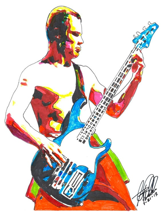 Flea Red Hot Chili Peppers Bass Guitar Player Bassist Funk