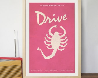 Drive Movie Movie Poster  /  Scorpion 12 x 18 Art Print / Ryan Gosling