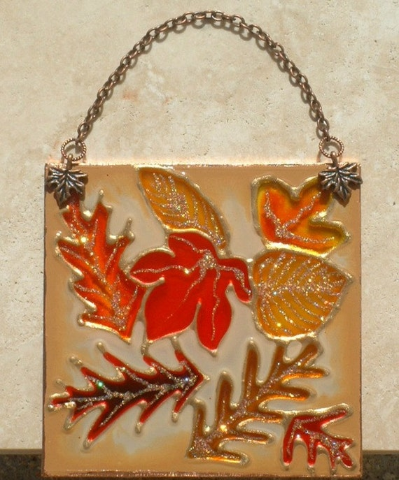 autumn leaves suncatcher