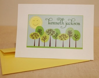 Tree Personalized Note Cards