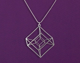 Popular Items For Cube Necklace On Etsy