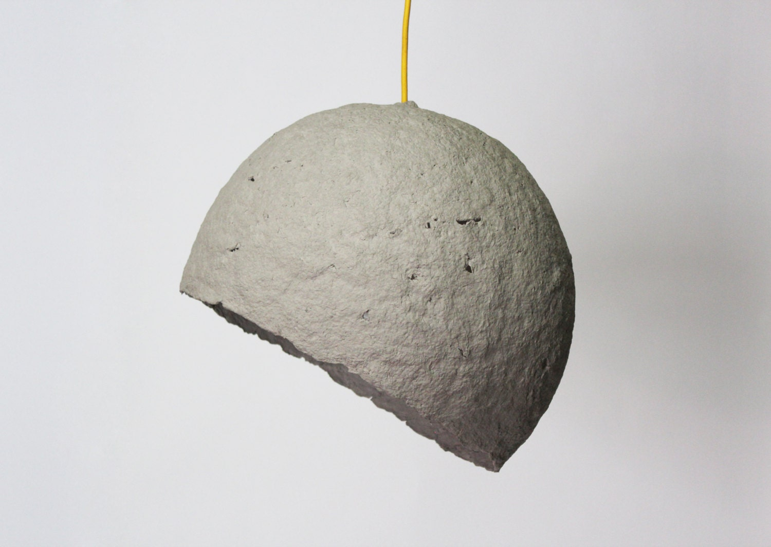 Paper mache pendant lamp globe paper pulp hanging lamp for How to make paper mache lamps