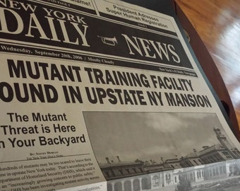 Mutant New York Newspaper Display Piece - Comic Books X