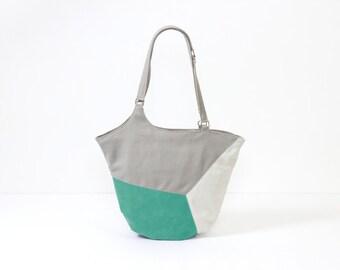faux leather crossbody, turquoise purse, aqua leather bag vegan, minimal summer bag