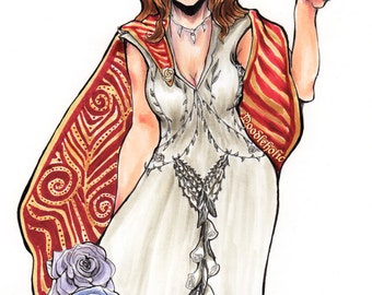 Original Marker Drawing Margaery Tyrell
