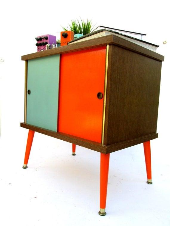 Mid Century Modern Record Credenza Bar By Electricmarigold