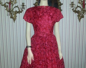 The Most Amazing 1950's Silk Chiffon New Look Dress...