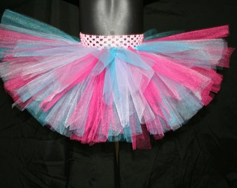 Rainbow Tutu Skirt, Girls Pink Tutu, Pink, Blue Purple Tutu Skirt, Birthday Tutu Skirt, Cake Smash Tutu, Tutu Skirt, Colorful Tutu Skirt