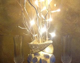 Seashell Centerpiece, Beach Wedding Decor, Nautical Reception, Rehearsal Dinner