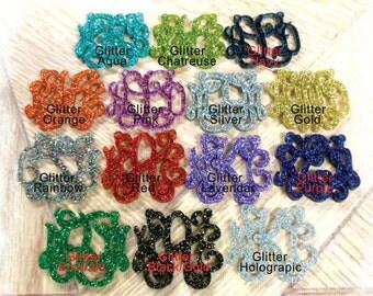 Glitter Monogram Necklace - Acrylic Monogram 3 Initial Necklace (Laser Cut Jewelry ) Monogram Gift , Personalized Gift