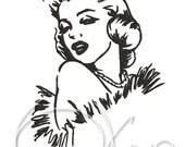 MACHINE EMBROIDERY FILE - Marilyn Monroe