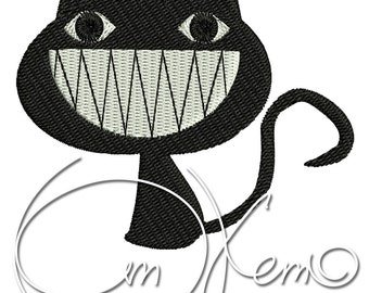 MACHINE EMBROIDERY FILE - Smiling cat