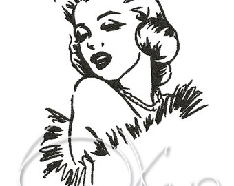 MACHINE EMBROIDERY FILE - Marilyn Monroe