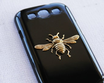 Case with Vintage Bee Hard iPhone 6s Plus Cover Black Cute Girly iPhone 6s Plus Case Black Gold Bees Insect Case