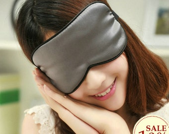 SALES PROMOTION  1pc silk eyewear sleep eye mask travel mask big size color sliver and others