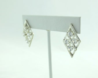 Clear Quad Stud Earrings- Crystal Earrings- Bridal Jewelry- Crystal Bling- Special Occasion Earrings-Made to order, any color- For Her