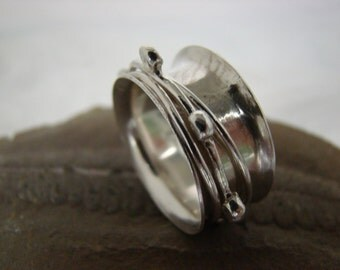 Sterling Silver Spinner Ring  #073