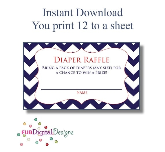 Diaper Raffle Tickets Printable | New Calendar Template Site